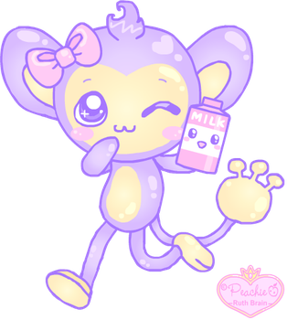 Milky Aipom by Princess-Peachie