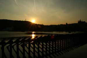 Sunset in Prague by getupp