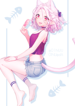 Summer Cat by 01nu