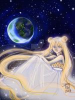 Princess Serenity Earth Gazing by Delight046