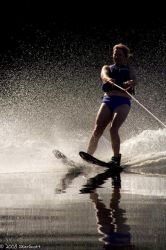 Waterskiing by skierscott