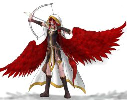 Red Winged Archer by moemoe1