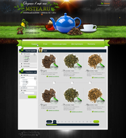 Web Design - MsTea by Shizoy