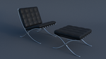 Barcelona Chair and Footstool by JoeyBlendhead