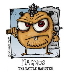 Magnus The Battle Hamster by stuartmcghee