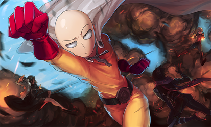 One-punch Man by GRAVEWEAVER