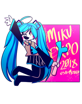 -miku expo '18- by DJTulips