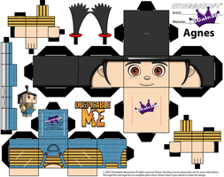 Despicable Me Agnes Cubeecraft by SKGaleana by SKGaleana
