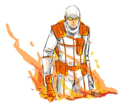 Daily Sketch Challenge 02 - Heat Wave by Meinarch