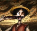 Luffy from one piece by AtomiccircuS
