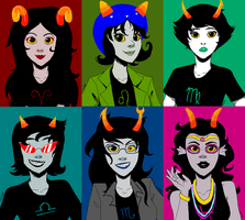 The Lovely Lady Trolls of Homestuck by ThePuddingMonster