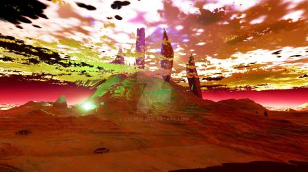 Alien Artifact Site On Dying Planet by Cyurus