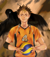 Yuu Nishinoya (Fan-Art) by deadlyworks