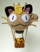Meowth Balloon by MilesofCrochet