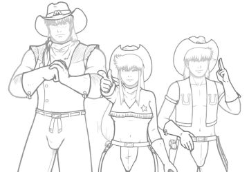 Wild West C.O.W-Boys Of Moo Mesa Poses by CCB-18