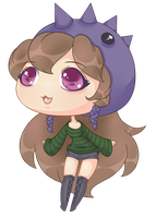 For Dreamingerrors - Chibi OC by CloverWing