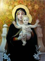 Copy of 'The Madonna of the Lilies' by strannaya-anna