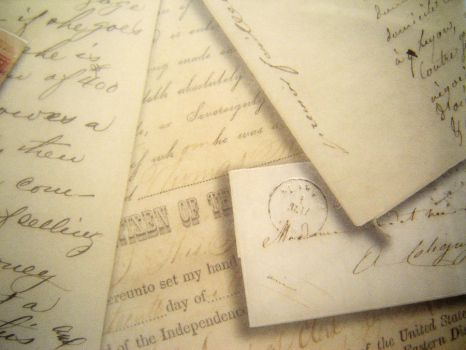 A Pile of Old Letters by Zai-stock