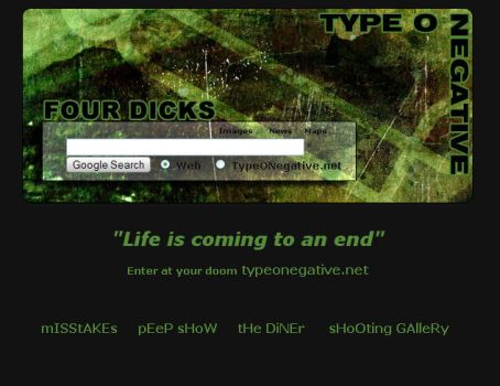 Type O Negative Startpage by indigenous