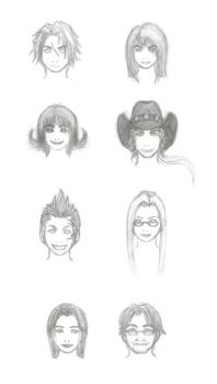 FFVIII: Familiar Faces by windinmysails
