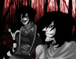 Art Trade Jack And Jeff: For xXLevanaXx by AngelKiller666