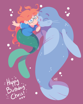 Manatee Nuzzles by raygirl