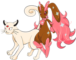 Persian and Lopunny by jorgextravaganza