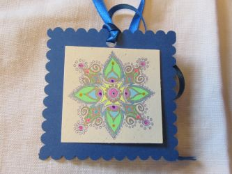Hanging Mandala Ornament by Jeanne Kasten by mandalagal