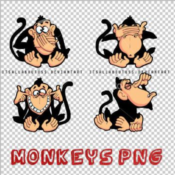 Monkeys PNG by itsallaboutuss