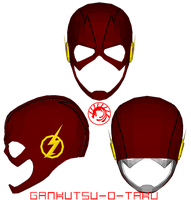 CW The Flash Mask Pepakura by GANKUTSU-O-TAKU