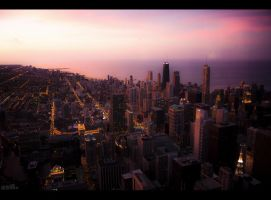 Chicago Dusk 2 by makks87