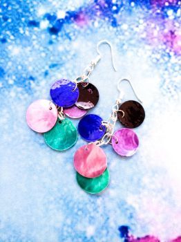 Galaxy Dragon Scale Earrings by WildeGeeks