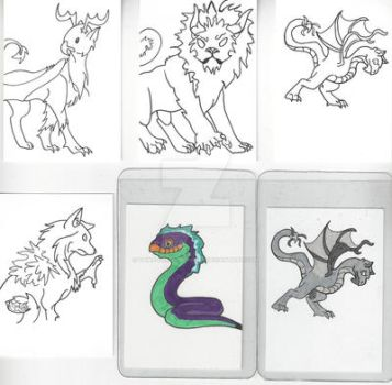 Fantasy Deck Line Art by Paws-for-a-Moment