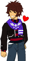 [Undertale]:~AU Adult!Frisk~ by The-Star-Hunter
