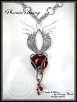 Phoenix Rising - necklace by fantasywinds