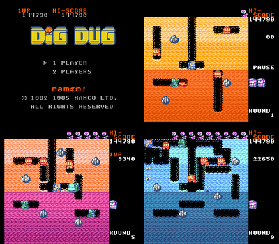 Dig Dug Redug [ROM HACK] by DragonDePlatino