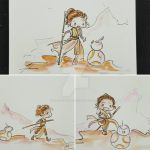 Rey x3 by GalacticDustBunnies