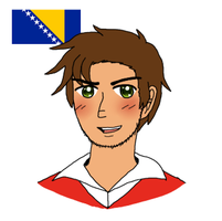 [APH OC] Bosnia adjusted design by melondramatics