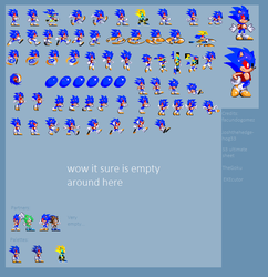 Glitch The Hedgehog Mini Sprite Sheet (UPDATED) by BobDaScatcherGuy