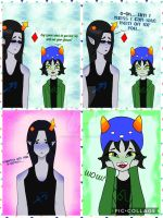 Moirails Equius x Nepeta in- Glasses? by ChocoOzorii
