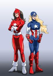 Marvel Heroines - Red Guardian and American Dream by adamantis