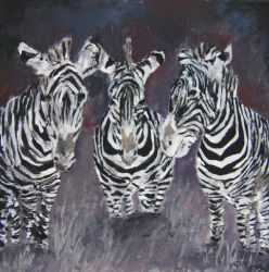 zebra oil painting by derekmccrea