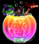 WolfyKiss Halloween Party Drink by Colorfulmoongato