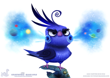 Daily Paint 1752# Celestatiels - Black Hole by Cryptid-Creations