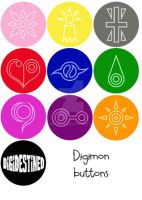Buttons: Digimon set 1 by Colt-kun