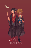 Sirius and Remus by Jimmy-ilustra