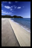 Deserted Solanas Beach by colpewole