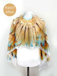 Gold Wings silk scarf by MinkuLul