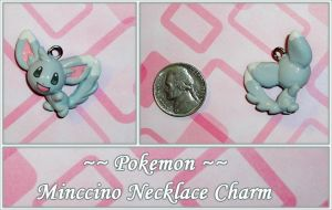 Pokemon - Minccino Necklace Charm - Commission