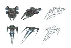 Spaceship sketch by tranenlarm